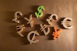 Diverse Währungssymbole